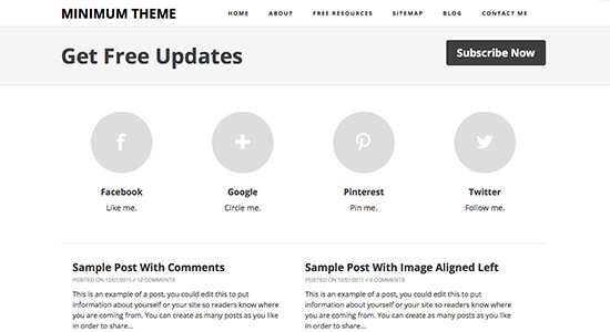 minimum-blogger-template