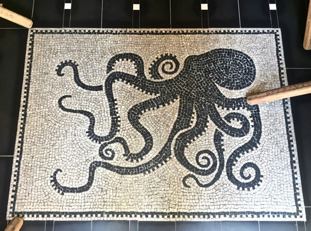 Octopus Eating in Rome's Monti Neighborhood