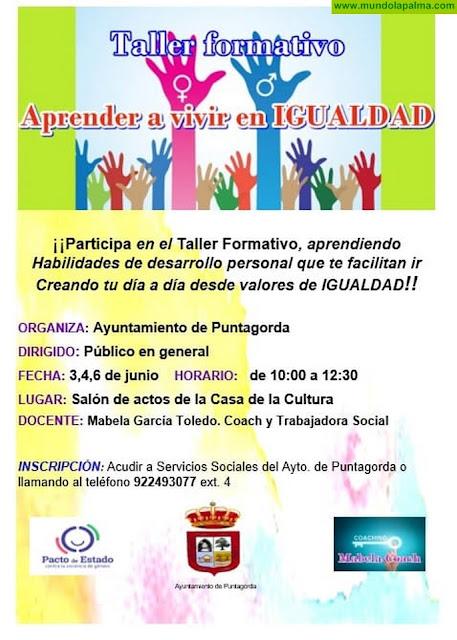 """Taller """"Aprende a vivir en igualdad"""" en Puntagorda"""
