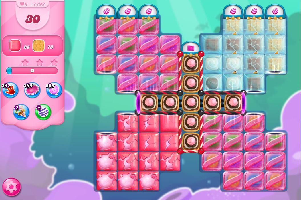 Candy Crush Saga level 7792