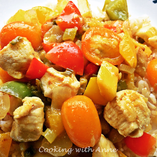 Sweet Chicken Curry with Mango and Kumquats