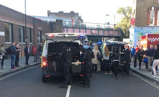 An explosion occurred at Parsons Green Tube Station west London