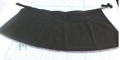 A Repurposed Apron- the Black Version