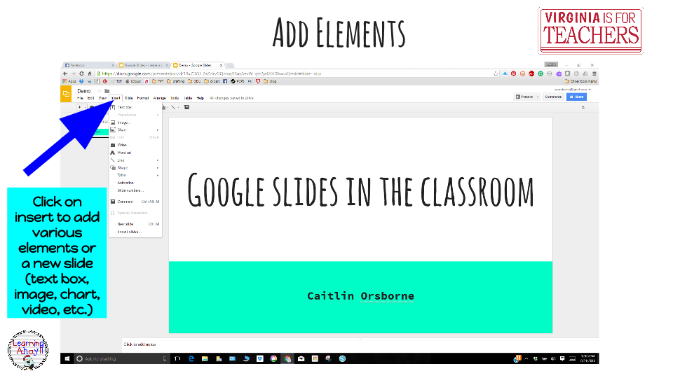 how to add google slides to google apps