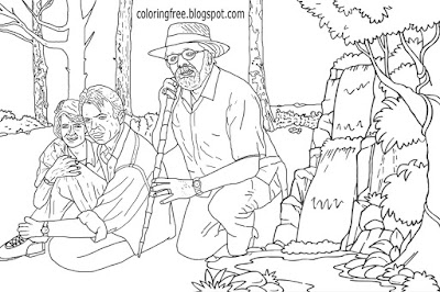 Lost World Jurassic Park Doctor John Hammond creator dinosaurs big screen science fiction coloring