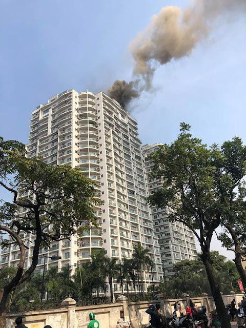 Đám cháy xảy ra tại tầng 25 của toà nhà