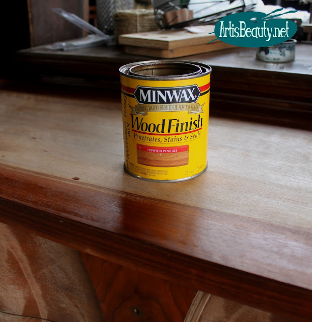MINWAX WOOD FINISH STAIN AND SEAL IPSWICH PINE MCM MID CENTURY MOD DRESSER MAKEOVER