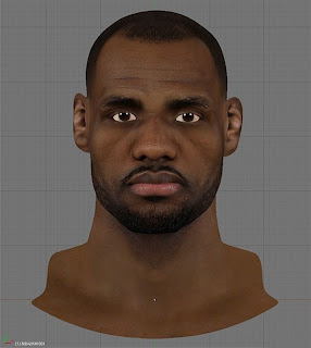 NBA 2K13 Lebron James HD Cyberface Patch