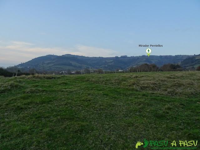 Vista de la Sierra sobre La Vega de Sariego