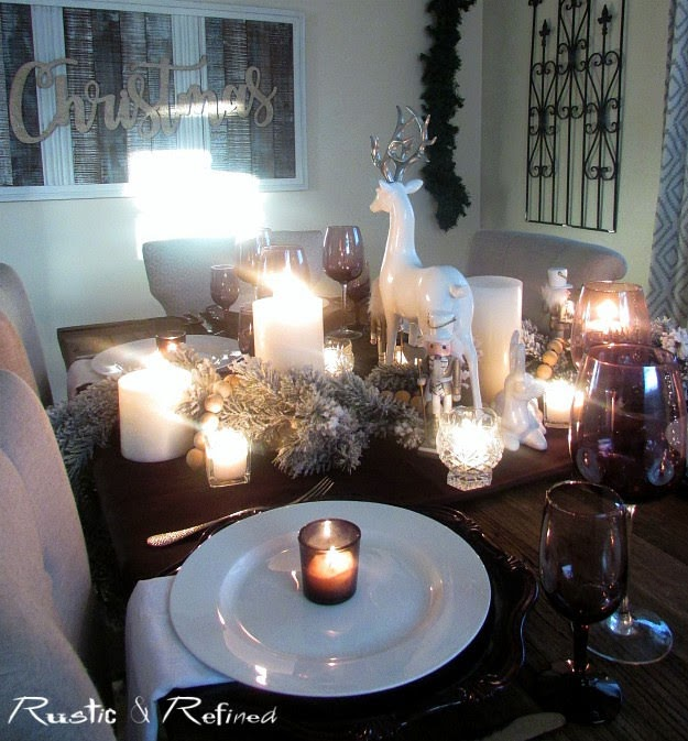 Holiday Tablescape and Elegant Christmas Centerpiece