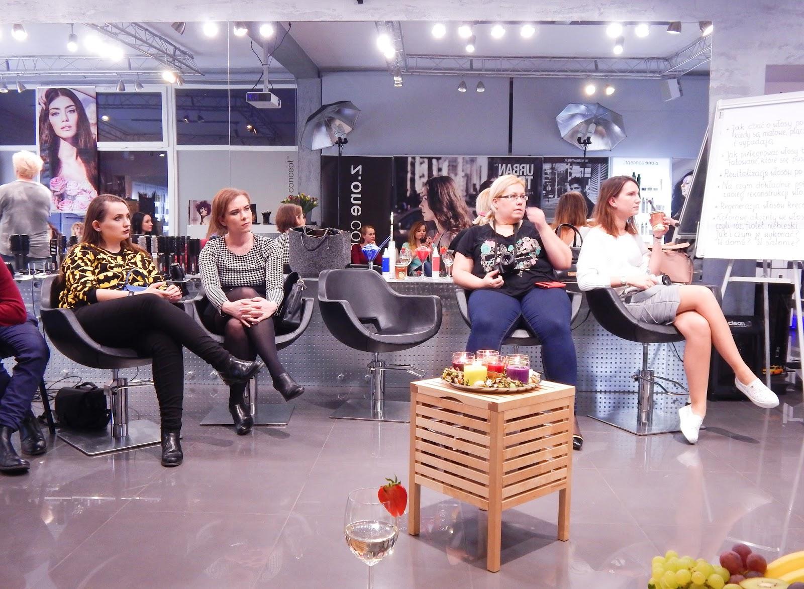 1 relacja spotkanie blogerek akademia z.one concept łódź szkolenia dla fryzjerów akademia fryzjerska koloryzacja melodylaniella jak dbać o włosy pielęgnacja koloryzacja włosów
