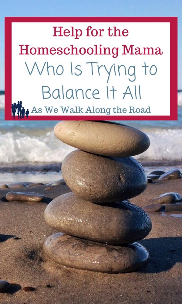 Finding balance as a homeschool mom