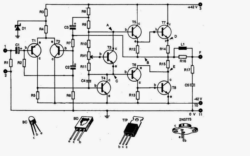 Electronics Circuit Application: Audio Amplifier 100W or