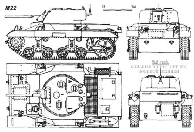 Общий вид легкого американского танка Light Tank M22 Locust