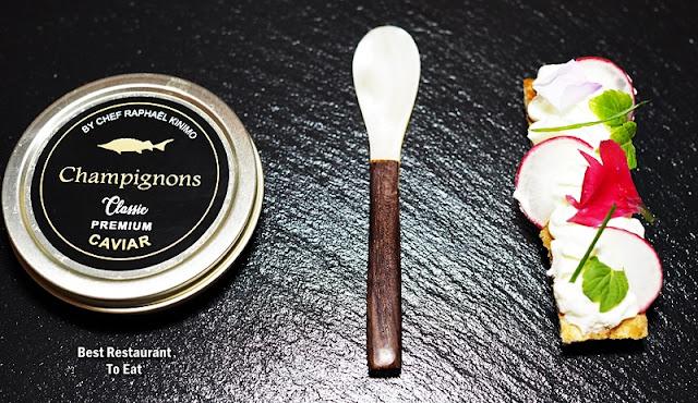 CHAMPIGNONS AT OASIS  - Chef Raphael Caviar Tin