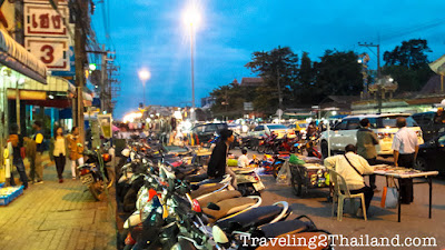 Street market at Mae Sai in North Thailand