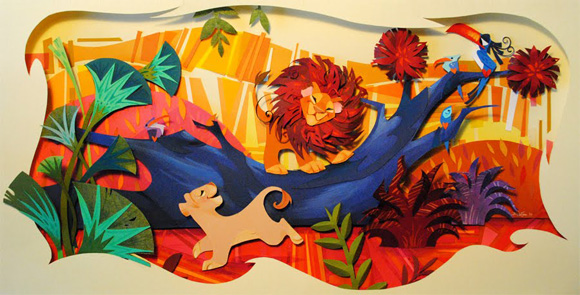 Disney paper art by Britney Lee