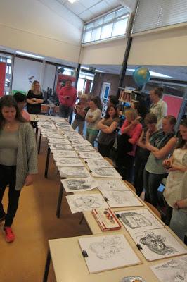 expo en schouw karikatuur tekeningen workshop live