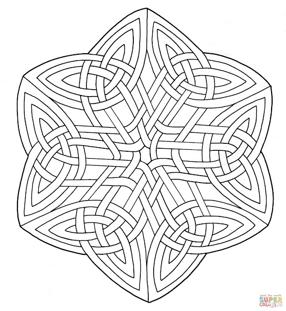 Click The Celtic Knotwork Coloring Pages