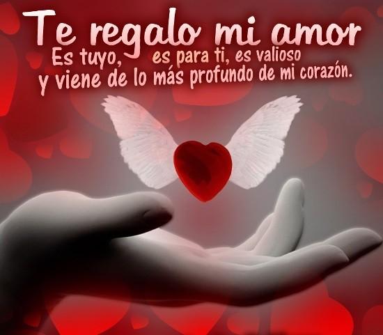 Corazon Con Alas Y Frases De Amor Imagenes Bonitas De Amor Con Frases