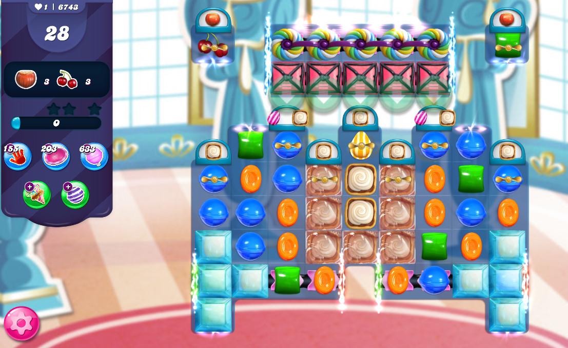 Candy Crush Saga level 6743