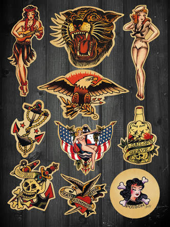 Sailor Jerry Eagle Tattoo Designs