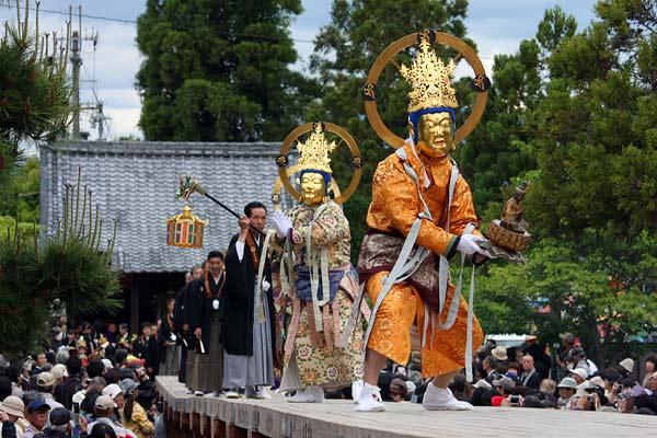 Nerikuyo-Eshiki (stage event) at Taimadera Temple, Katsuragi, Nara