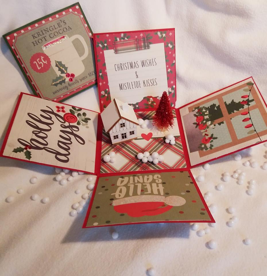 The Christmas Cottage 2019.Scrap Paper Scissors Christmas Cottage Explosion Box