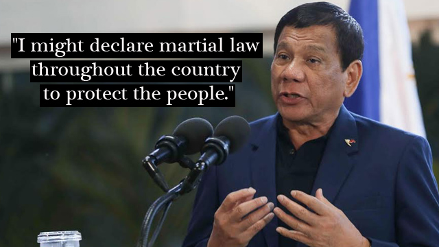 President Duterte to Expand the Martial Law to Whole Philippines
