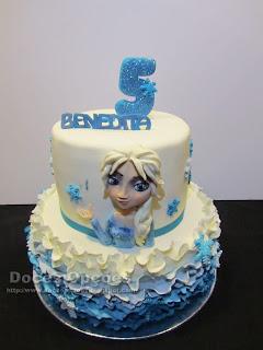 Um bolo Frozen para o 5º aniversário da Benedita