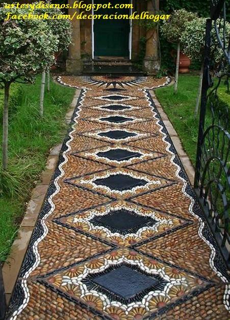 Pisos con piedras para jardines decoraci n del hogar for Jardines con madera y piedra
