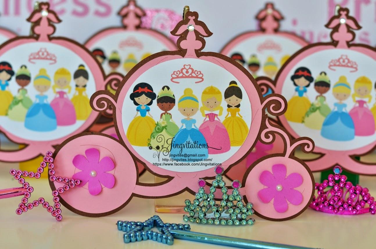 Disney Princess Baby Shower Invitations Cinderella Snow White Belle Sleeping Beauty And
