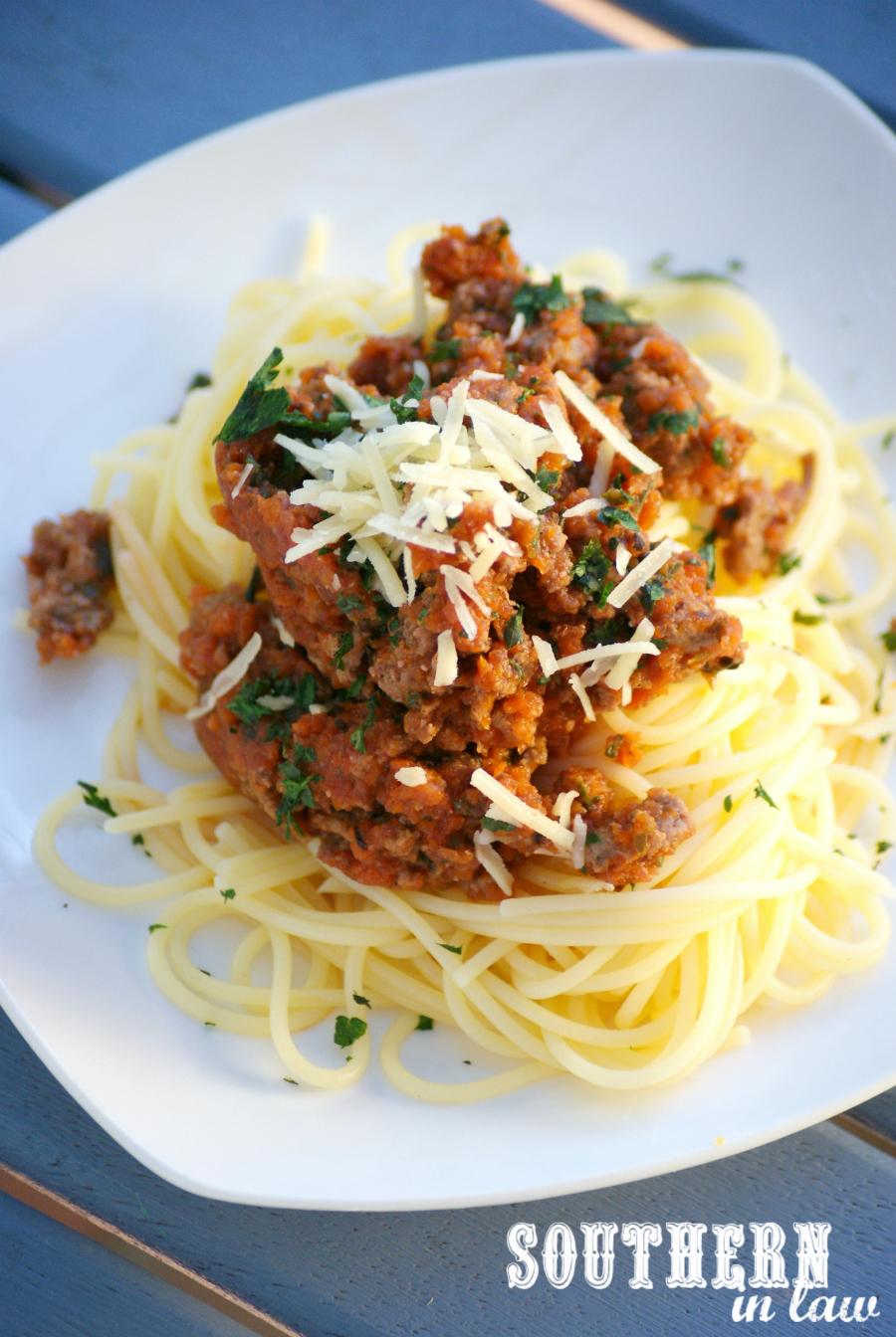 Southern In Law: Recipe: Nomato Spaghetti Bolognese