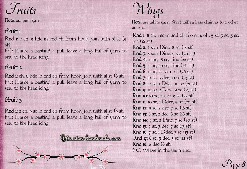 Описание вязания пряничного ангела амигуруми (8)