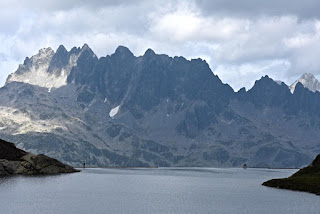Aiguilles de l'Argentière et Lac Bramant