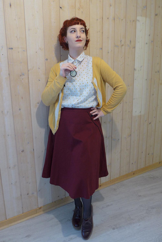 Un look vintage casual avec montre à gousset