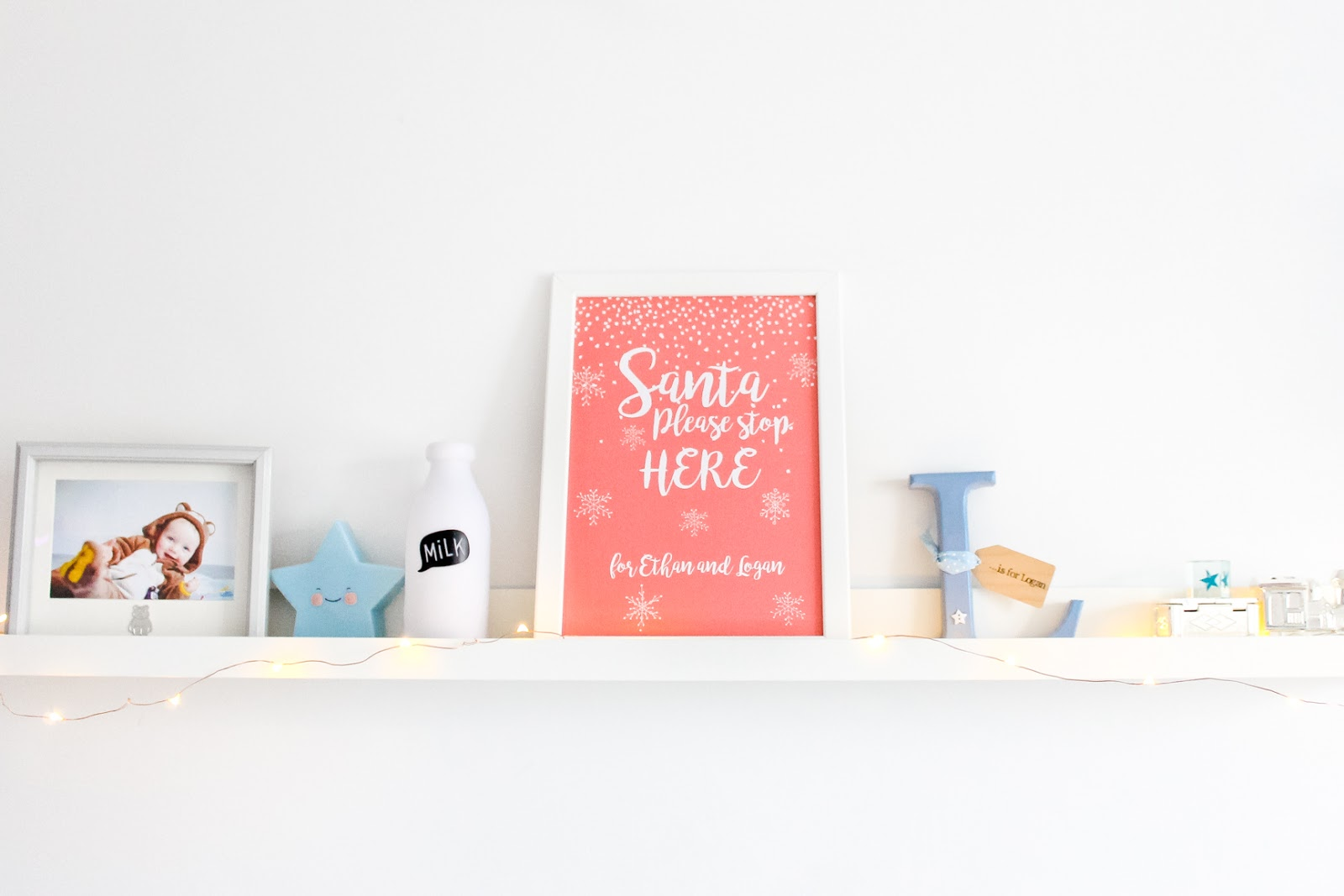 personalised christmas prints, kids bookshelf