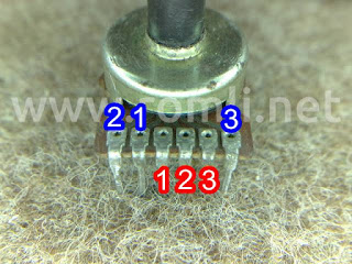 Potensiometer 6 pin stereo