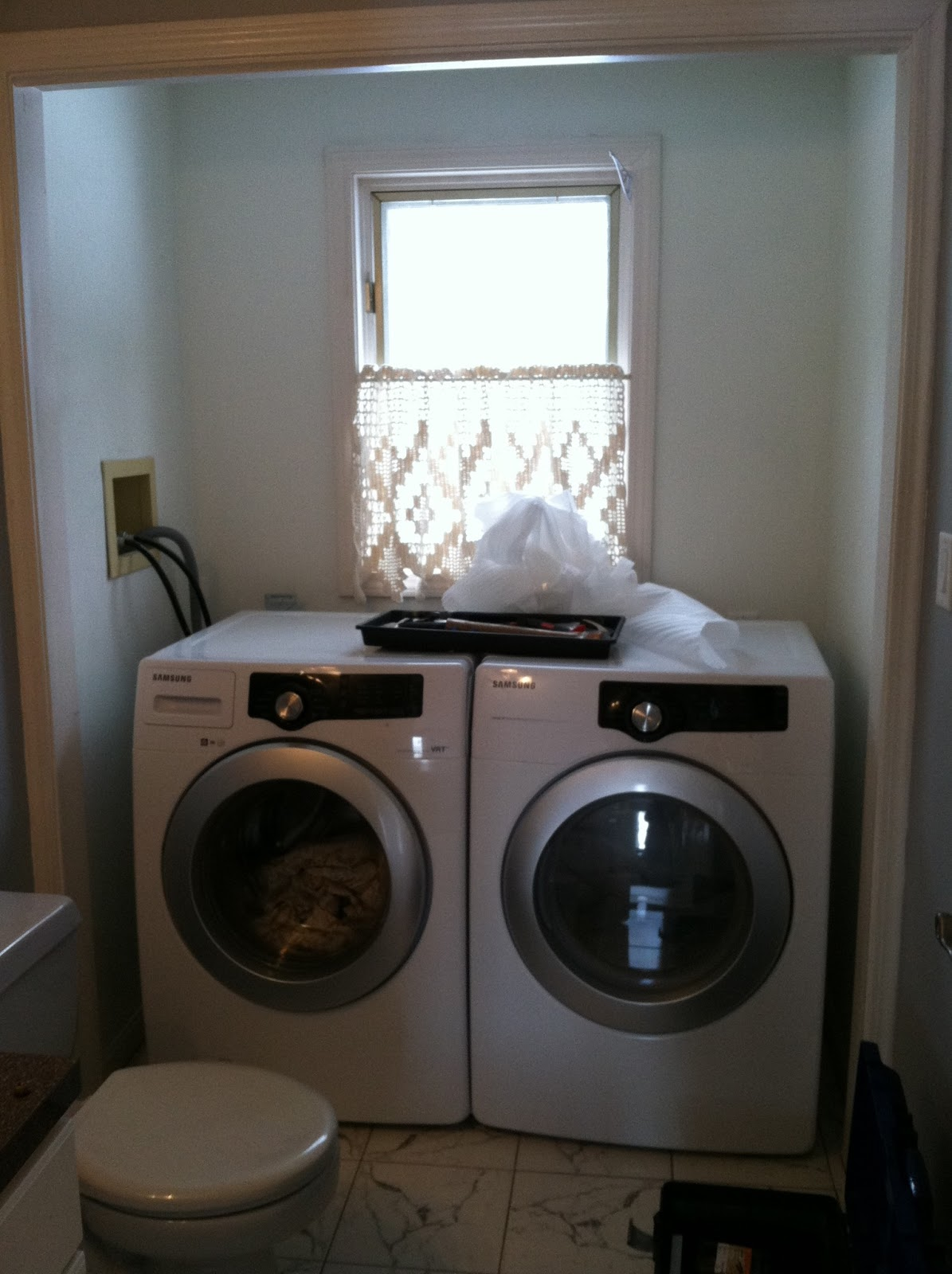 The Beige House Laundry And Powder Room Renovation