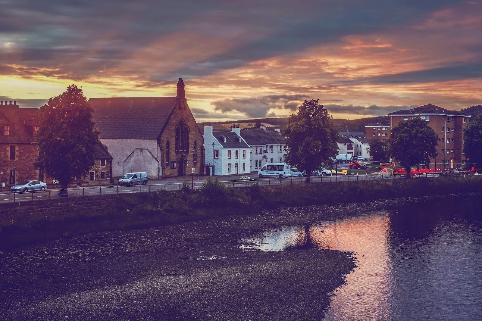 sunset in inverness, mandy charlton, ukcityscapes