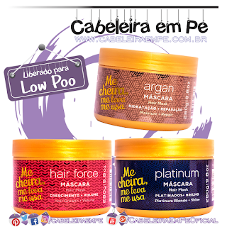 Máscaras Platinum, Argan e Force - QOD New City (Low Poo)