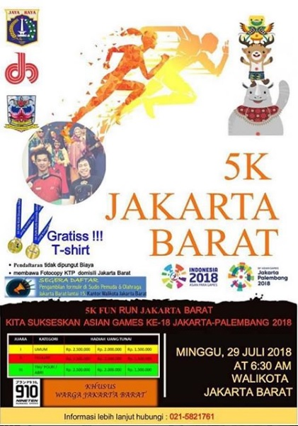 Jakarta Barat Fun Run • 2018