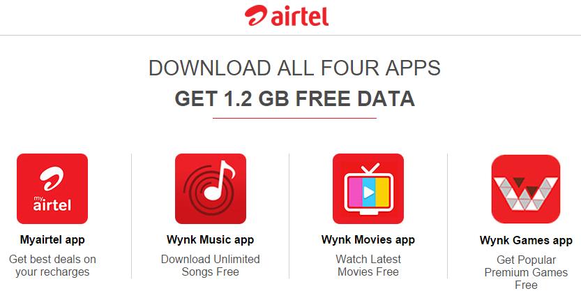 AirTel Free Internet Data Offer - Get 1 2 GB Free Data by