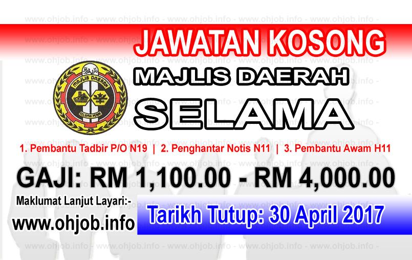 Jawatan Kerja Kosong Majlis Daerah Selama logo www.ohjob.info april 2017
