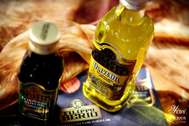 Filippo Berio Olive Oil and Extra Virgin Olive Oil COPYRIGHT Yedy Calaguas YedyLicious Manila Food Blog