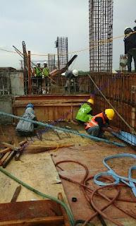 Waterstop PVC digunakan untuk sambungan konstruksi & sambungan menerus beton