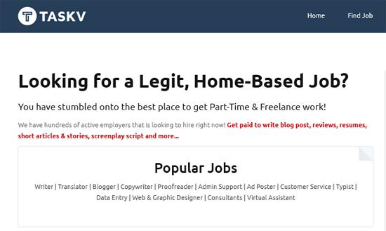 Kerja Kosong di Rumah Menerusi TaskV.com