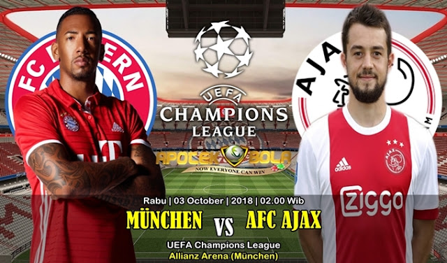 Prediksi Bayern Munchen Vs Ajax 3 Oktober 2018