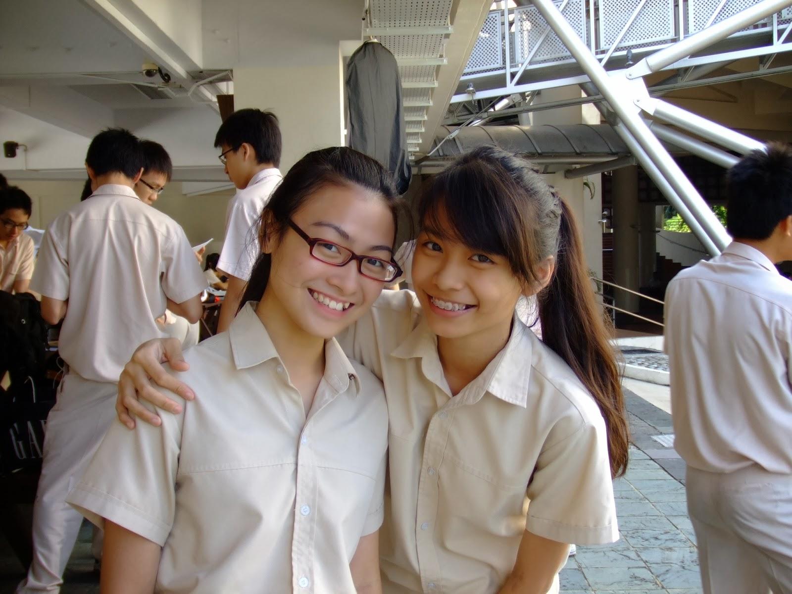 Hot upskirt at singapore poly - 4 3