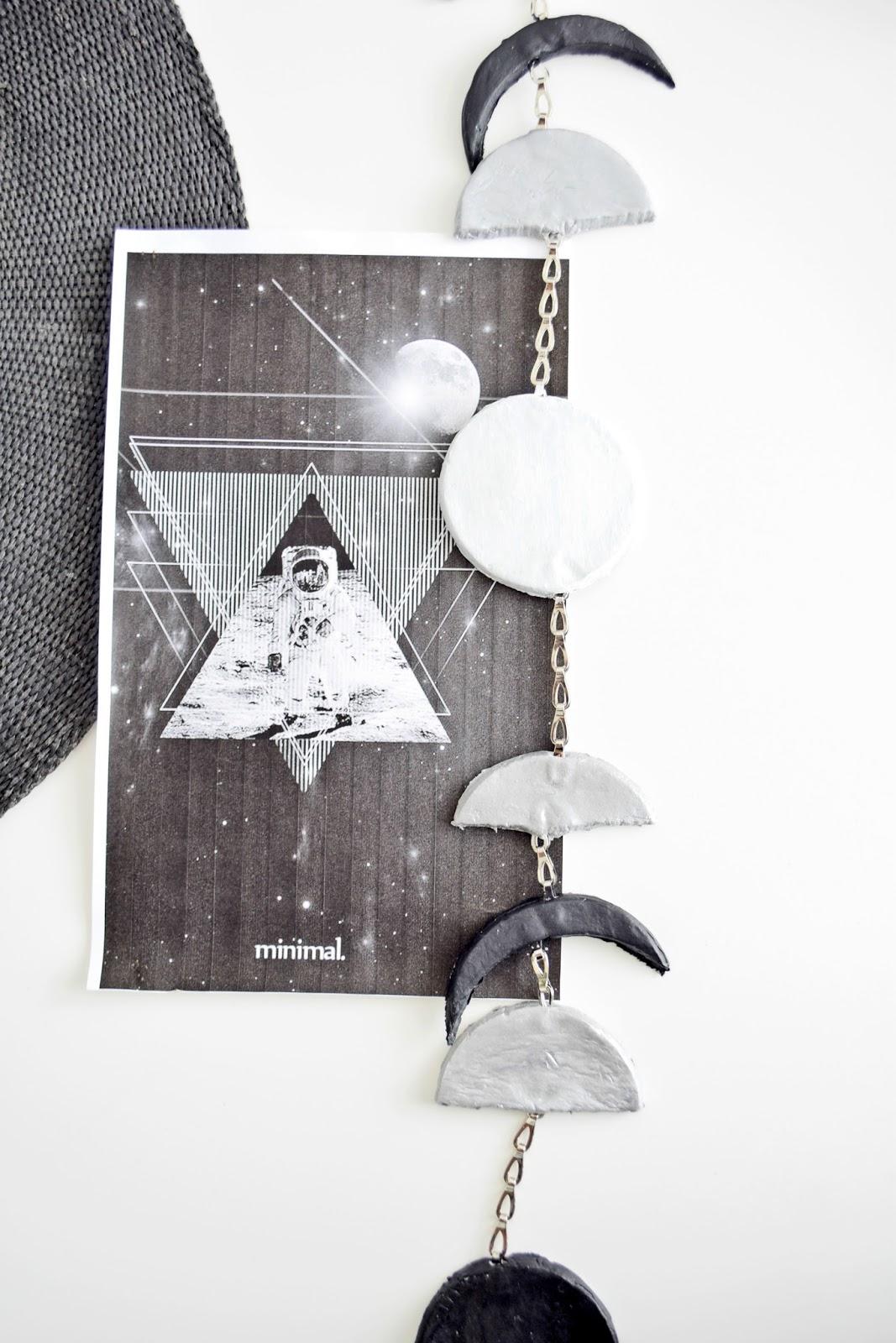 DIY dekoracje do domu fazy księżyca